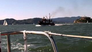 Fireboat on San francisco Bay
