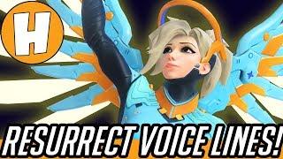 Overwatch - ALL NEW Resurrection Voice Lines! | Hammeh