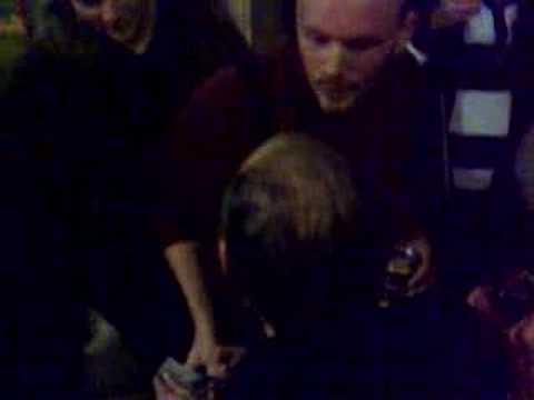 Mick Jones of the Clash at Arms Aloft gig