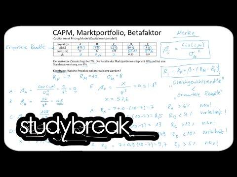 Portfoliotheorie, CAPM, Betafaktor | Investition und Finanzierung