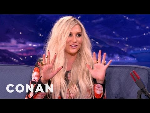 Ke$ha Writes Music With Her Boobs - Conan On Tbs video