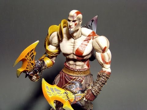 PLAY ARTS KAI KRATOS GOD OF WAR 3 ACTION FIGURE TOY REVIEW
