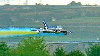 GIANT RC TURBINE MODEL JET NATRIX FLIGHT TO MUSIC AT THE JETPOWER FAIR