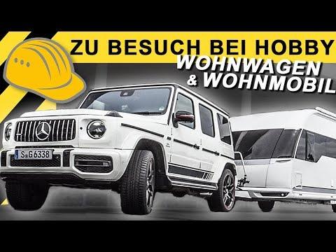 Wohnwagen für den G63 AMG? Besuch im Hobby Wohnwagen Werk