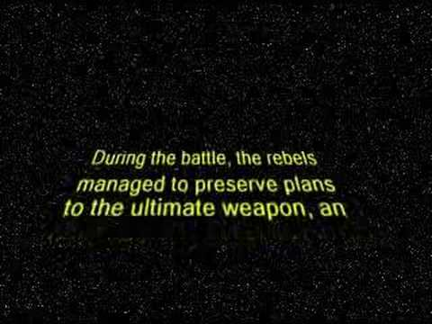 A short text and video I made, based on the Star Wars intro, for the part of