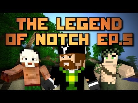 Minecraft: Legend of Notch! Episode 5 - Dual Villages? I GOT CONFUZZLED!