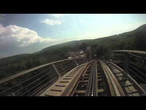 Twister - Roller Coaster - Knoebels Amusement Resort 7-26-11