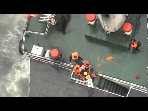 103年7月23日 空勤總隊第三大隊第二隊執行盛昌輪吊掛救援任務
