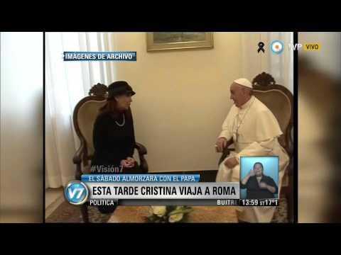 Visión 7 La Presidenta viaja a Roma