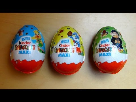 3 Kinder Surprise Maxi Eggs Unboxing [Easter Edition]