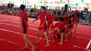 Children yoga school performance boy girl