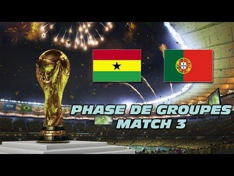 PES 2014 - Coupe du Monde Phase de groupes : Ghana vs Portugal