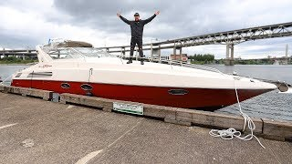 I bought a 30yr old ITALIAN YACHT and im going to Fix it Up!