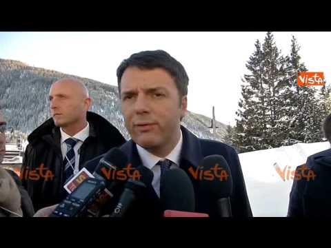 DAVOS, RENZI A INVESTITORI ESTERI: ITALIA NON E' PAESE DI SERIE B