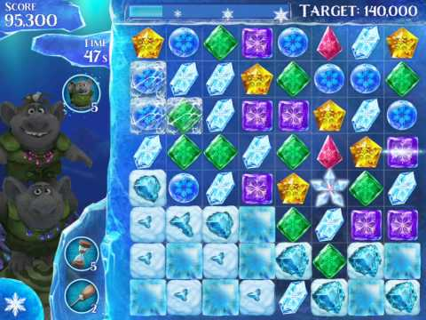 Frozen Free Fall Level 204 Live Action Play Walkthrough
