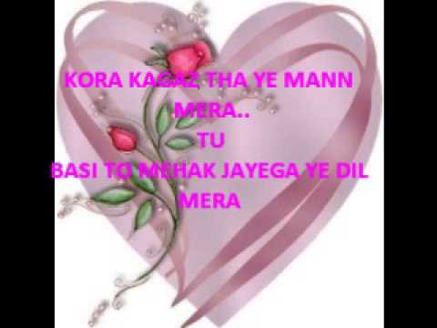 Kora Kagaz Tha By Rk (male Voice Part) video
