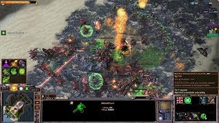 Starcraft 2 - Arcade - Direct Strike - 3vs3 - Commander Abathur - #85