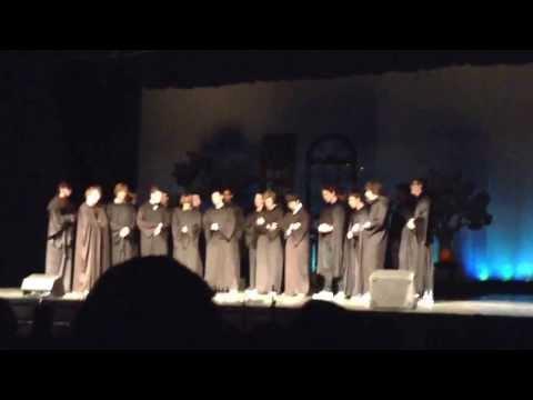 Men's ensemble singing  Skyrim at variety show. Providence High School NC