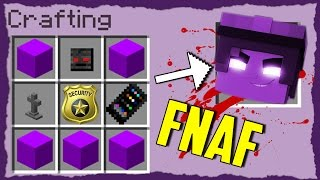 Minecraft FNAF - How to Summon PURPLE GUY in a Crafting Table!