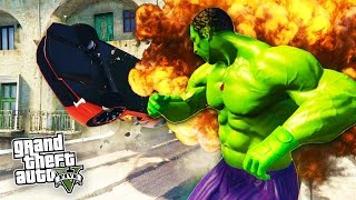 GTA 5 PC Mods - HULK MOD + SUPER STRENGTH! GTA 5 Hulk Mod Gameplay! (GTA 5 Mods Gameplay)