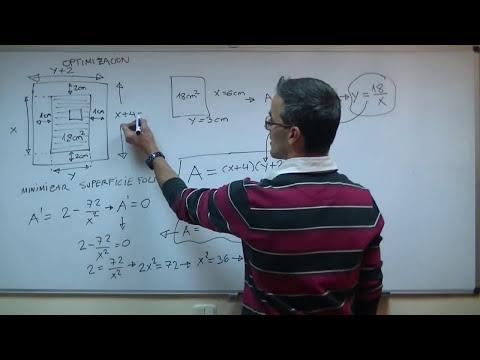 Optimizacion 01 2ºBACHI unicoos matematicas derivacion minimizar maximizar optimizar