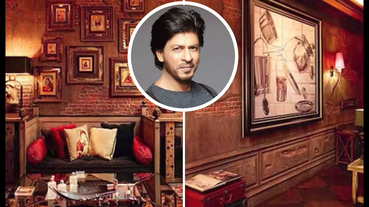Shahrukh khan house mannat inside video youtube Shahrukh khan home inside