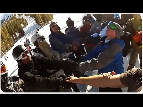 Crazy Skiing Rescue | Hanging For His Life