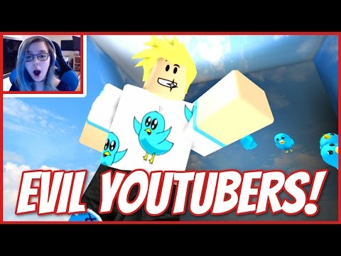 ROBLOX ESCAPE THE EVIL YOUTUBERS   LOOK MOM I'M IN AN OBBY!