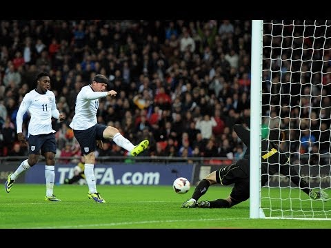 Wayne Rooney goal England vs Montenegro 1-0, World Cup qualifier