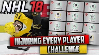 Is It Possible To Injure Every Single Player on the Opposing Team? (NHL 18 Challenge)