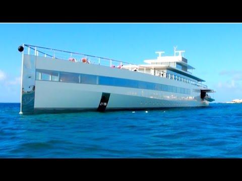 Ever Seen Steve Jobs MEGAYACHT Venus? Here it is in St Maarten, CARIBBEAN!