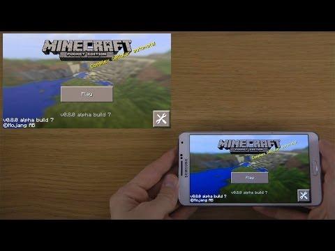 NEW Minecraft Pocket Edition 0.8.0 Beta Alpha Build 7 Samsung Galaxy Note 3 4 3 HD Gameplay Trailer