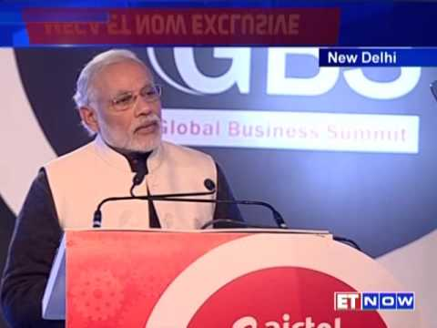 PM Narendra Modi at the Global Business Summit