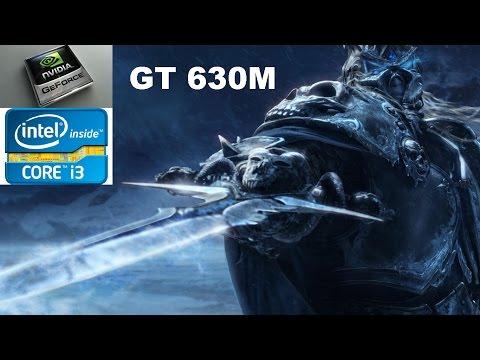 World Of Warcraft LK benchmark.Lenovo Z570 i3-2350M. GeForce GT630M