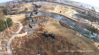 Centennial Land Run Monument, Oklahoma City, OK - DJI Phantom 2 Vision Drone UAV