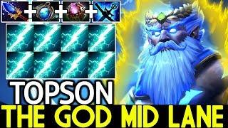 TOPSON [Zeus] The God Mid Lane Hard Counter Tinker WTF Plays 7.22 Dota 2
