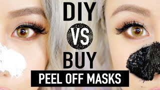 DIY Peel Off Mask To Remove Blackheads ✦ DIY vs. BUY Comparison ?? ♥ Wengie