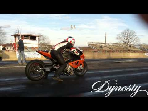 Turbo BMW S1000RR testing burnout and 1/4 Mile Drag Strip