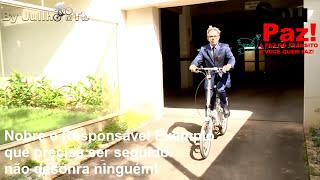 De Bike, Sérgio Meneguelli Vai à Prefeitura em Colatina, ES