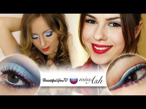 Russia - EURO 2012 Football Fan Makeup - Oroszország - EURO 2012 Labdarúgó Fan Smink
