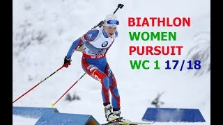 BIATHLON WOMEN PURSUIT 03.12.2017 World Cup 1 Oestersund (Sweden)