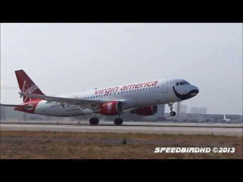 Virgin America 'Flying Beard' Airbus A320-214 [N849VA] Taxi and Takeoff