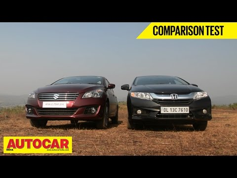 2014 Maruti Suzuki Ciaz Vs Honda City | Comparison Test | Autocar India