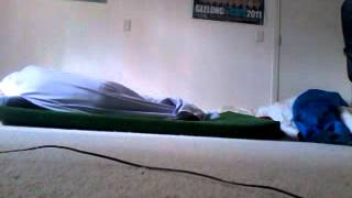 coolest way to get into bed!! :)