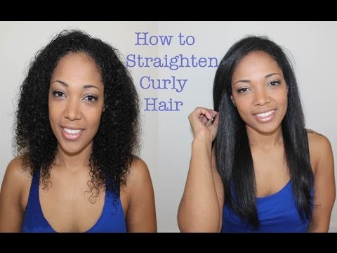 curly to straight hair youtube