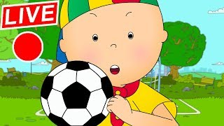 🔴 LIVE CAILLOU LEARNS SOCCER - Live cartoon | Caillou live | Cartoons for children | Cartoon Movie