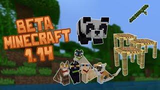 Beta de Minecraft 1.14, Osos pandas gatos bambú y andamios!