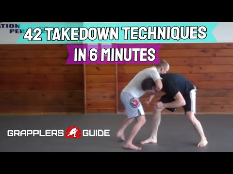 42 Takedown Techniques in Just 6 Minutes BJJ Grappling - Jason Scully