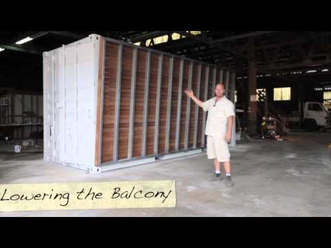 My Shipping Container House - Balcony Operation (Container Build Group)