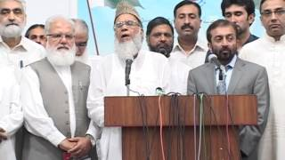 Syed Munawar Hasan Addressing Press Conference With Farooq Sattar - 24 July 2012